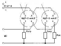 <b>«ИДТ-2» исп.01</b><br/>Типовая схема включения четырёхпроводных извещателей «ИДT-2» исп.01