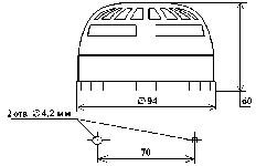 <b>«ИДТ-2»A2RИБ исп. ИП212/101-18-A2RИБ</b><br/>Габаритные и установочные размеры извещателей