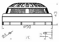 <b>«ИДТ-2» A3R ИБ (новый корпус)</b><br/>Габаритные и установочные размеры извещателей
