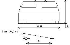 <b>«ИДТ-2» исп. ИП212/101-18A3</b><br/>Габаритные и установочные размеры извещателей
