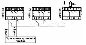 <b>ИПР 513-2 «Агат»ИБ (ИПР-СИ-1ИБ)</b><br/>Пример включения извещателя в ШС приборов серии «КОРУНД-СИ» по варианту, аналогичному дымовым пожарным извещателям (R ок - выносной элемент ШС). При индикации дежурного режима ток извещателя возрастает до 80 мкА.