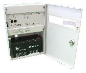 <b>ППКОП019-4-1 «Корунд2/4-СИ» исп.02 (2ШС, КЦЦ, RS-485)</b><br/>Вид с открытой дверцей и аккумулятором