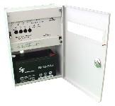 <b>ППКОП019-4-1 «Корунд2/4-СИ» исп.04 (4ШС, КЦЦ, RS-485)</b><br/>Вид с открытой дверцей и аккумулятором
