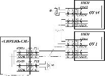 <b>СПИ «Сирень-СИ»</b><br/>Схема подключения к линии связи используя одно направление