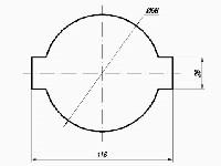 <b>Крепление извещателей в подвесных потолках «УМ-5»</b><br/>Разметка отверстия в панели потолка для монтажа извещателя